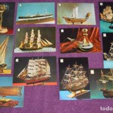 Postales: LOTE DE 12 ANTIGUAS POSTALES DE BARCOS Y SUBMARINOS - SIN CIRCULAR - MUY BONITAS - HAZME OFERTA. Lote 90423009