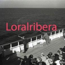 Postales: NEGATIVO BARCO SS PATRICIA SWEDISH LLOYD CUBIERTA TIRO AL PLATO 1970 KODAK 35MM PHOTO SHIP FOTO. Lote 90819285