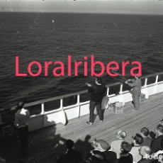 Postales: NEGATIVO BARCO SS PATRICIA SWEDISH LLOYD CUBIERTA TIRO AL PLATO 1970 KODAK 35MM PHOTO SHIP FOTO. Lote 90819525