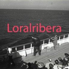 Postales: NEGATIVO BARCO SS PATRICIA SWEDISH LLOYD CUBIERTA TIRO AL PLATO 1970 KODAK 35MM PHOTO SHIP FOTO. Lote 90819885