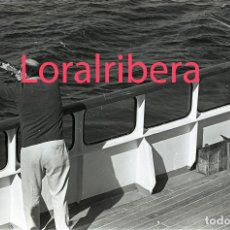 Postales: NEGATIVO BARCO SS PATRICIA SWEDISH LLOYD CUBIERTA TIRO AL PLATO 1970 KODAK 35MM PHOTO SHIP FOTO. Lote 90820190