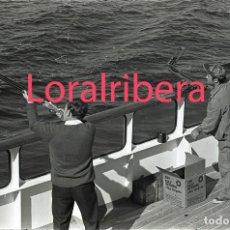 Postales: NEGATIVO BARCO SS PATRICIA SWEDISH LLOYD CUBIERTA TIRO AL PLATO 1970 KODAK 35MM PHOTO SHIP FOTO. Lote 91105840
