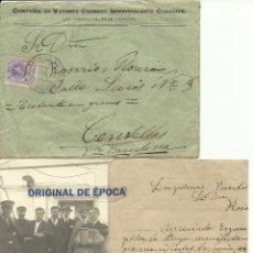 Postales: (XJ-170702)POSTAL FOTOGRAFICA,CARTA Y SOBRE VAPOR URGEL.LAS PALMAS - CENTELLAS. Lote 92354405