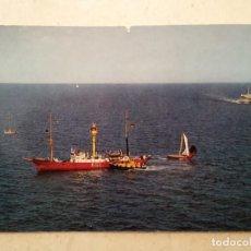 Postales: ANTIGUA POSTAL -10*15- BARCO FEUERSCHIFF KIEL ALEMANIA - ALBUM. Lote 93366415