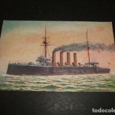 Postales: BARCO DE GUERRA CRESSY POSTAL. Lote 93936475