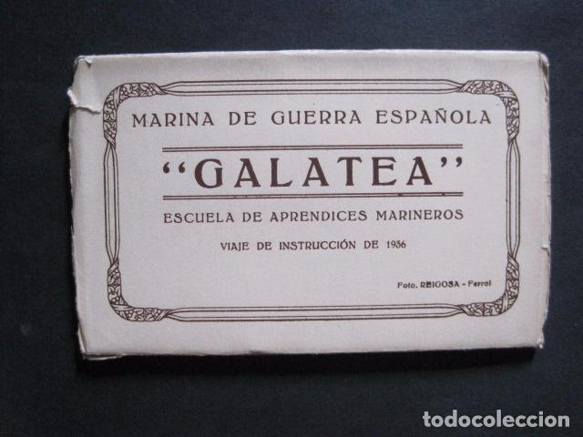POSTALES - ACORDEON 10 POSTALES FOTOGRAFICAS - MARINA GUERRA GALATEA - VIAJE AÑO 1936 - (V- 11.847) (Postales - Postales Temáticas - Barcos)