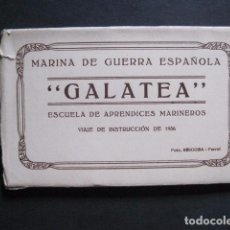 Postales: POSTALES - ACORDEON 10 POSTALES FOTOGRAFICAS - MARINA GUERRA GALATEA - VIAJE AÑO 1936 - (V- 11.847). Lote 94029340