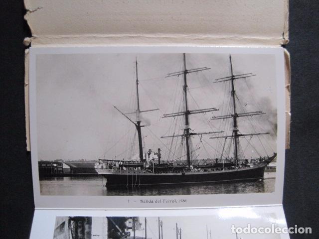 Postales: POSTALES - ACORDEON 10 POSTALES FOTOGRAFICAS - MARINA GUERRA GALATEA - VIAJE AÑO 1936 - (V- 11.847) - Foto 2 - 94029340