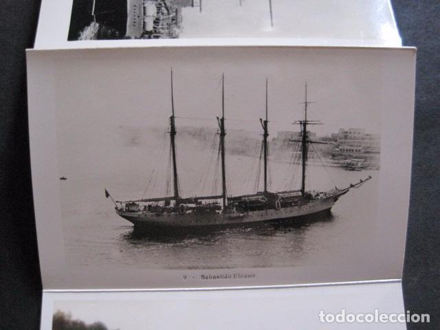 Postales: POSTALES - ACORDEON 10 POSTALES FOTOGRAFICAS - MARINA GUERRA GALATEA - VIAJE AÑO 1936 - (V- 11.847) - Foto 9 - 94029340
