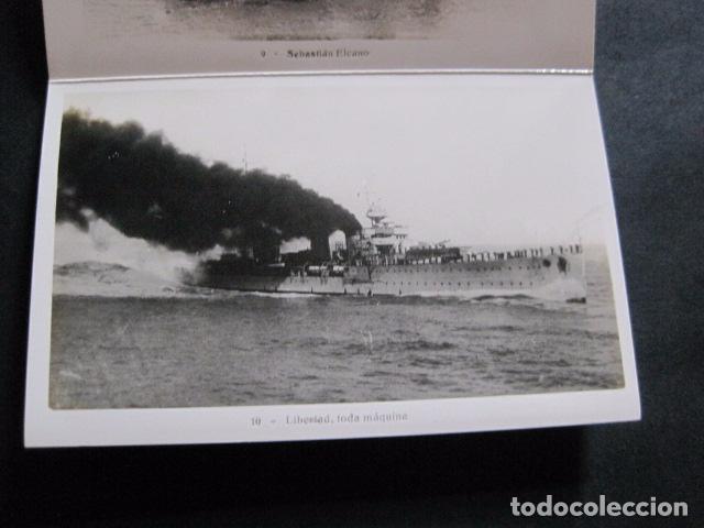 Postales: POSTALES - ACORDEON 10 POSTALES FOTOGRAFICAS - MARINA GUERRA GALATEA - VIAJE AÑO 1936 - (V- 11.847) - Foto 11 - 94029340