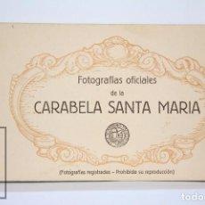 Postales: ANTIGUO TACO DE 12 POSTALES - FOTOGRAFÍAS OFICIALES DE LA CARABELA SANTA MARÍA - COLÓN - HERALMI. Lote 94232745