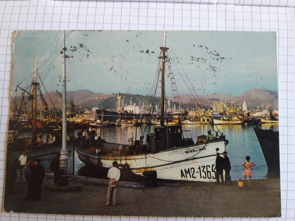 POSTAL CIRCULADA MÁLAGA 1967 (Postales - Postales Temáticas - Barcos)