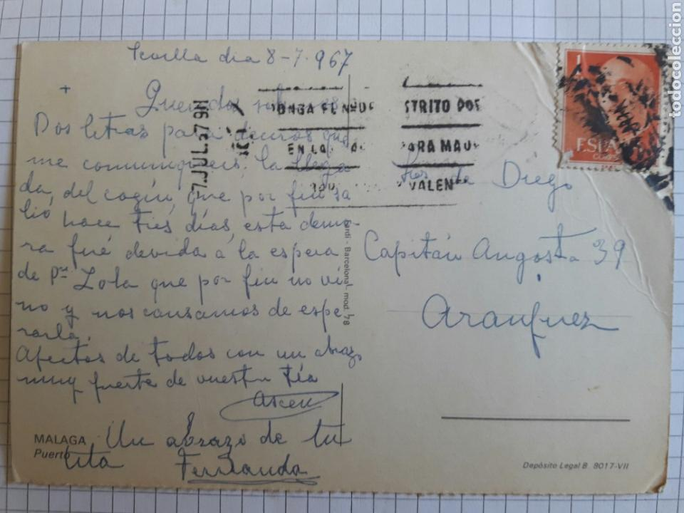 Postales: Postal circulada Málaga 1967 - Foto 2 - 94377880