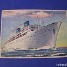 Postales: POSTAL DE BARCO T/V IRPINIA. COMPAÑIA SICULA OCEANICA. ESCRITA.. Lote 95706595