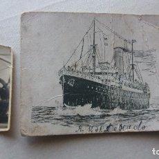 Postales: POSTAL Y FOTOGRAFIA BUQUE R.M.S.P DESEADO VILLAGARCIA DE AROUSA . Lote 95733351