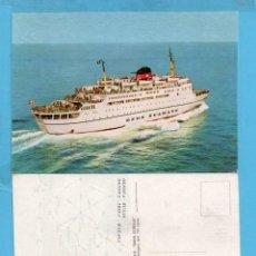 Postales: POSTAL DE BARCO MALAGA IBIZA GÉNOVA TUNIS SIN CIRCULAR . Lote 95733963