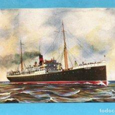 Postales: POSTAL DE DIBUJO BARCO SIN CIRCULAR . Lote 95734039