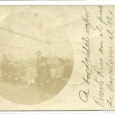 Postales: (PS-52762)POSTAL A BORDO DEL VAPOR PUERTO RICO EN EL PUERTO DE BARCELONA EL 12-10-1904. Lote 98006251