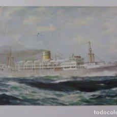 Postales: PORTUGAL A MOZAMBIQUE. 1967. COMPANHIA COLONIAL DE NAVEGAÇAO. PAQUETE PATRIA. SIN SELLO. TAMPÓN ROJO. Lote 98107739