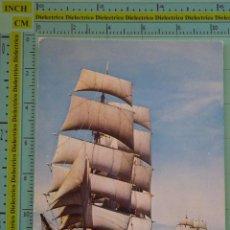 Postales: POSTAL DE BARCOS NAVIERAS. BARCO BUQUE VELERO STATSRAAD LEHMKUHL, BRETAÑA. 1109. Lote 98516303