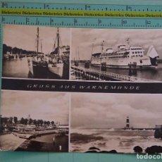 Postales: POSTAL DE BARCOS NAVIERAS. BARCO BUQUE. PUERTO DE WARNEMUNDE, ALEMANIA. 1115. Lote 98516375