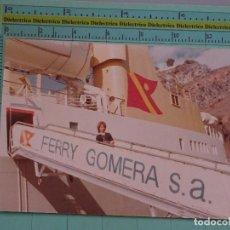 Postales: FOTO DE BARCOS NAVIERAS. AÑO 1983. BARCO BUQUE FERRY GOMERA. 1123. Lote 98516439