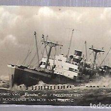 Cartes Postales: TARJETA POSTAL DE BARCOS. BARCO FAUSTUS. 1952.. Lote 99354527