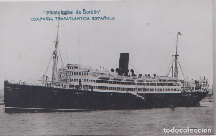 INFANTA ISABEL DE BORBON - COMPAÑIA TRASATLANTICA ESPAÑOLA (Postales - Postales Temáticas - Barcos)
