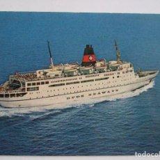 Postales: POSTAL BARCO - DFDS SEAWAYS - M.S. DANA CORONA - GENOVA - ESCRITA SIN CIRCULAR. Lote 100447987
