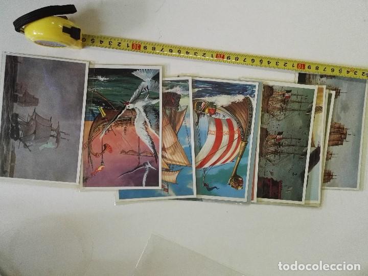 LOTE DE 12 POSTALES DE BARCOS EN COLOR (Postales - Postales Temáticas - Barcos)