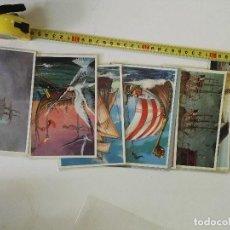 Postales: LOTE DE 12 POSTALES DE BARCOS EN COLOR. Lote 101411259