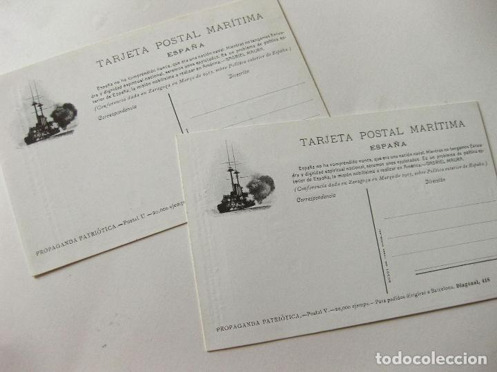 Postales: 2 POSTALES DE LA SOCIEDAD ESPAÑOLA DE CONSTRUCCION NAVAL - BOTADURA ACORAZADO ALFONSO XIII - Foto 2 - 103704811