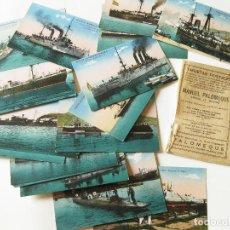 Postales: COLECCION COMPLETA DE 20 POSTALES DE LA MARINA DE GUERRA ESPAÑOLA . JORGE VENINI. PALOMEQUE. Lote 103705399