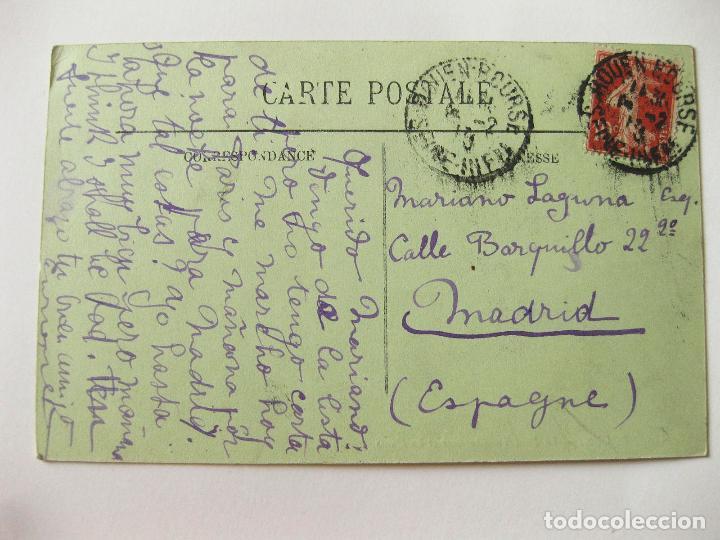 Postales: ANTIGUA POSTAL DE LOS BARCOS EN ROUEN. FRANCIA - Foto 2 - 103711103