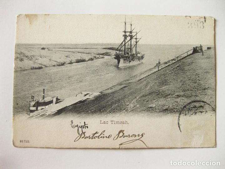ANTIGUA POSTAL DE UN BARCO EN EGIPTO (Postales - Postales Temáticas - Barcos)