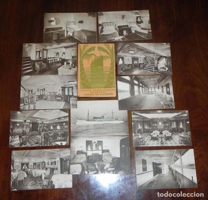 12 POSTALES DEL BARCO MOTONAVE CIUDAD DE ALICANTE, COMPAÑIA TRANSMEDITERRANEA, NO CIRCULADAS. (Postales - Postales Temáticas - Barcos)