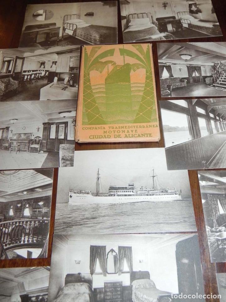 Postales: 12 POSTALES DEL BARCO MOTONAVE CIUDAD DE ALICANTE, COMPAÑIA TRANSMEDITERRANEA, NO CIRCULADAS. - Foto 3 - 104736727
