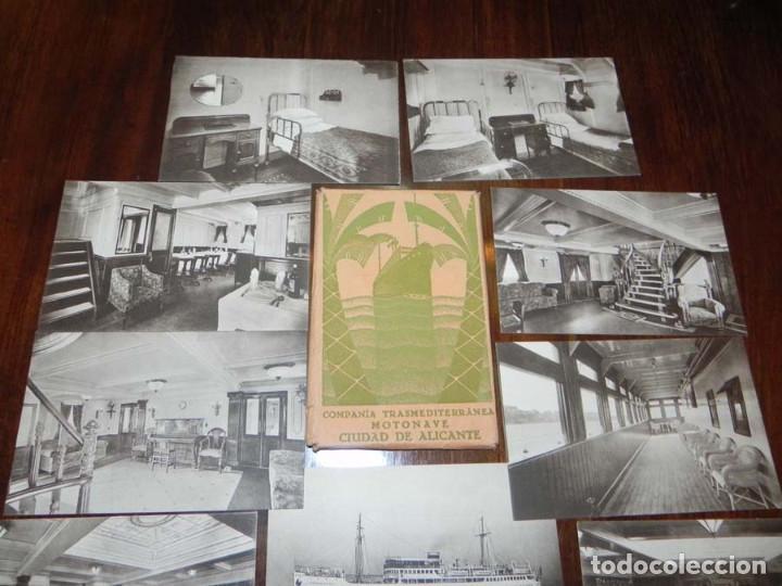Postales: 12 POSTALES DEL BARCO MOTONAVE CIUDAD DE ALICANTE, COMPAÑIA TRANSMEDITERRANEA, NO CIRCULADAS. - Foto 4 - 104736727