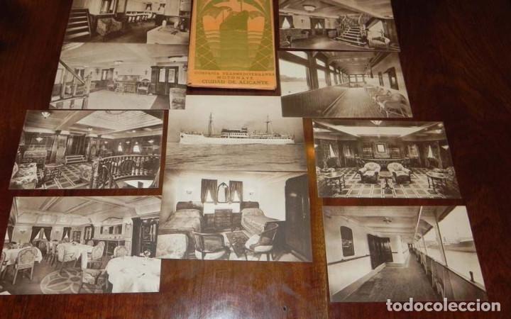 Postales: 12 POSTALES DEL BARCO MOTONAVE CIUDAD DE ALICANTE, COMPAÑIA TRANSMEDITERRANEA, NO CIRCULADAS. - Foto 5 - 104736727