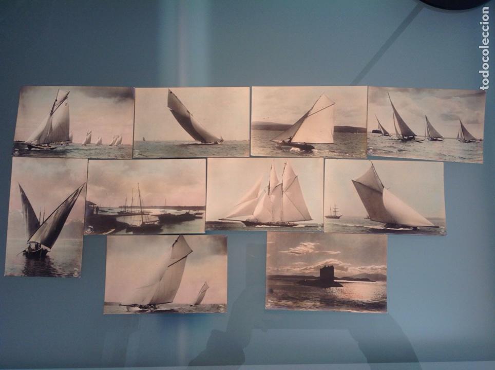LOTE 10 POSTALES ANTIGUAS VELEROS COLOREADAS (Postales - Postales Temáticas - Barcos)