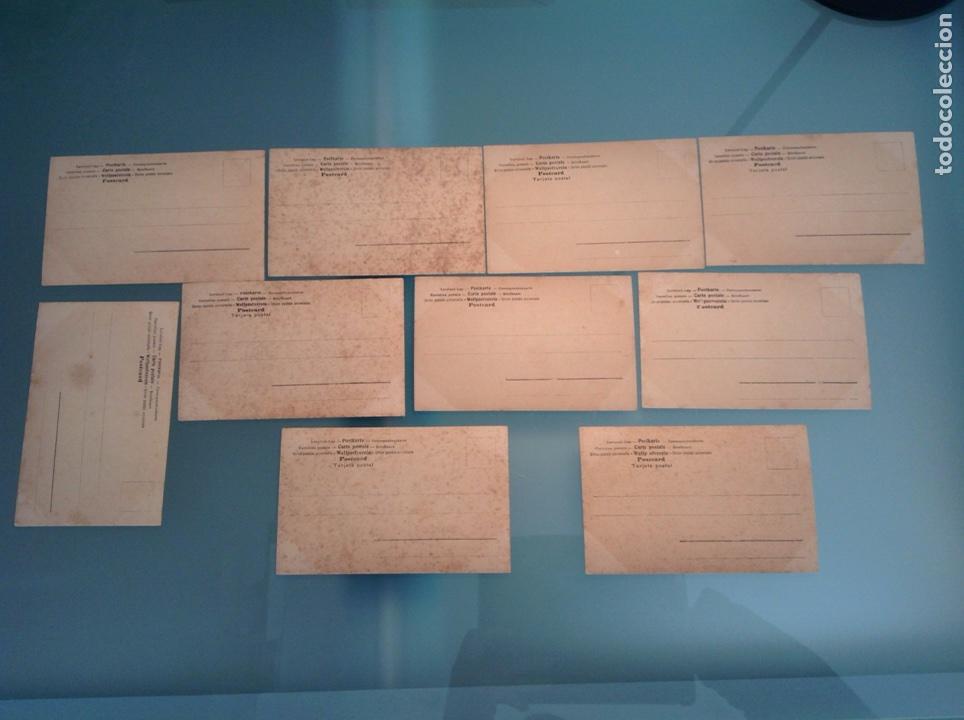 Postales: Lote 10 postales antiguas veleros coloreadas - Foto 2 - 105025118