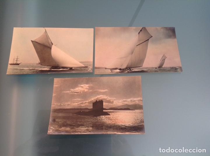 Postales: Lote 10 postales antiguas veleros coloreadas - Foto 7 - 105025118