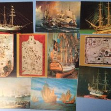 Postales: LOTE 10 POSTALES MUSEO NAVAL SIN CIRCULAR - 1997. Lote 104810759