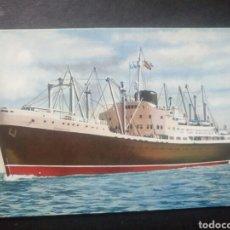 Postales: POSTAL BARCO BEGOÑA COMPAÑÍA TRANSATLÁNTICA ESPAÑOLA. Lote 105623918