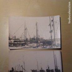 Postales: LOTE 2 POSTALES ANTIGUAS. BARCO ARMADA ATRACADO. Lote 105640346
