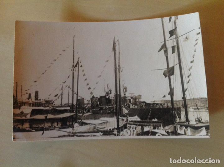 Postales: Lote 2 postales antiguas. Barco armada atracado - Foto 2 - 105640346