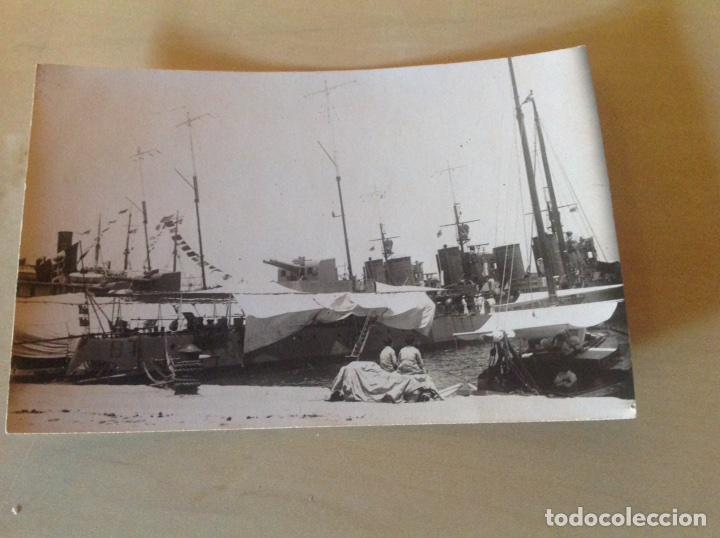 Postales: Lote 2 postales antiguas. Barco armada atracado - Foto 3 - 105640346