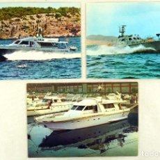 Postales: LOTE 3 POSTALES DE BARCOS DE ASTILLEROS VIUDES S.L. BARCELONA - SIN UTILIZAR. Lote 106680735