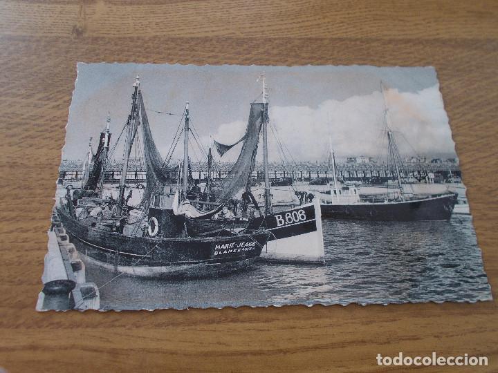 BLANKENBERGE. LE PORT DE PECHE.. .CIRCULADA. 1957 (Postales - Postales Temáticas - Barcos)