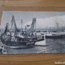 Postales: BLANKENBERGE. LE PORT DE PECHE.. .CIRCULADA. 1957. Lote 106706279